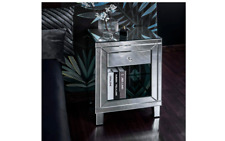 Laura James Glass Mirrored Bedside Table, 1 drawer