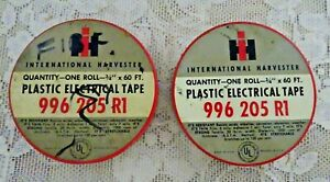 International Harvester 996 205 R1 Electrical Tape Original Product Tin Cans (2)