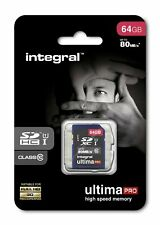 Integral 64GB SDXC Card SD Card HD Camcorders Digital camera Memory Card