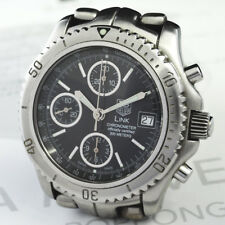 TAG-HEUER LINK DATE CT5111 MENS WATCH 200m AUTO BLACK 40mm 100%Authentic CF6117
