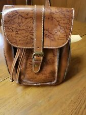 Patricia Nash Aberdeen Signature Map Collection Backpack Riot Rust Nwt