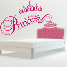 Wall Decal Real Princess Crown Nursery Inscription Letter Cheerful Story M610