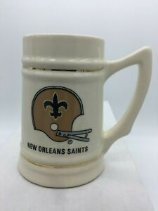 "NEW ORLEANS SAINTS Vintage Lewis Bros. Ceramic Beer Stein/Mug 5 3/4"" tall RARE"