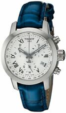 Tissot Women's T0552171603300 PRC 200 Chronograph Blue Leather Watch