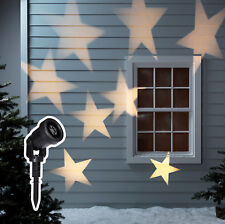 8 Star Christmas Projector Stake Lights Warm White LED Outdoor Use by Lights4fun