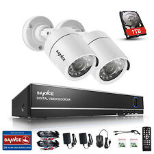 Sannce 4Ch Security 1080N 5In1 Dvr H.264 720P Tvi Cameras Ir-Cut Email Alert 1Tb