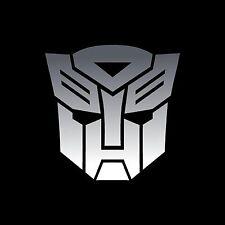 Autobots Transformers decals stickers 3 x 3 inch Chrome vinyl x3 decals