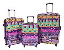 Aztec Luggage Suitcase Set Multicoloured 4 Wheels TSA Lock 3 Sizes Cabin/m/l Bag