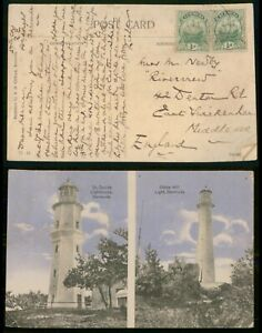 Mayfairstamps Bermuda to England Lighthouses Picture Postcard wwm89073