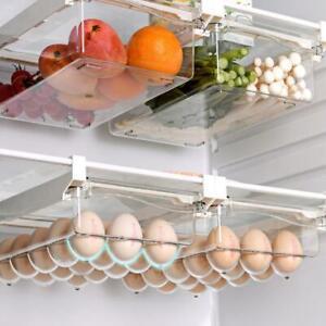 Fridge Box Can Kitchen Shelf Organiser Cupboard Holder Storage Basket Rack SC DC