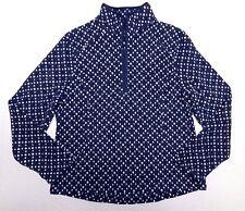WOMENS fleece 1/2 zip SWEATER = LANDS' END = SIZE MEDIUM (10-12) petite = AA57