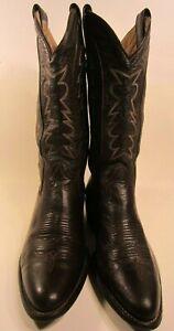 Montana Vintage Mens Brown Leather Western Cowboy Boots Size US 8.5 D