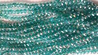 Joblot of 10 strings (720 beads) 8mm Light Teal Crystal beads new wholesale