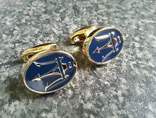 Maserati cufflinks 24ct gold plated new quality gift uk seller gift bag 24k
