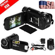 "Full HD 1080P 16M 16X Digital Black Zoom Video 2.7"" TFT LCD Camcorder Camera DV"