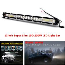 13in 200W LED Light Bar Combo Spot Flood Beam Light Fit For Off Road Truck ATV