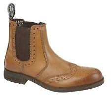 Roamers M980B Mens Tan Burnished Softie Leather Boots UK Size 10 BNIB