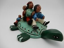 Judy Peele Turtle with Children Limited Edition Art Sculpture #251 of 3000