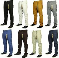 BNWT KAM STRETCH CHINOS JEANS STRAIGHT LEG 8 COLOURS BLACK GREY WHITE NAVY INK