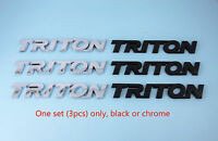 3 Badges, Matte Black or Chrome, Triton