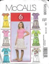 McCall/'s girls tube top tank top shorts skirt pants Sewing Pattern #5090 Size CDD girls 2 3 4 5