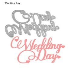 Wedding Day Metal Cutting Dies Stencil Scrapbooking Paper Card Craft Embossing