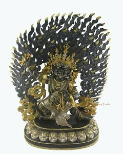 Fine Quality Hand Carved Vajrapani Chana Dorje Copper Statue From Patan, Nepal