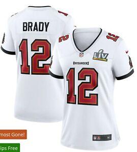 Nike Tom Brady Tampa Bay Buccaneers Women's Super Bowl LV Bound White Jersey XL