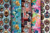 Designer Digital Print Fabric - Quality Upholstery,100% Cotton, Animal Designs