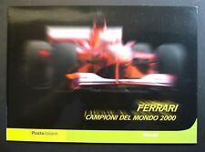 """2001  Italia  Folder  """" FERRARI Campione del Mondo 2000  """"   MNh**"""