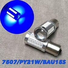 Front Turn Signal Light BAU15S 7507 PY21W samsung 33 SMD LED Blue Bulb W1 JAE