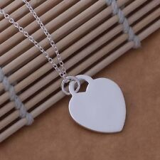 Silver 925 Fashion heart Wedding Lady new pendant necklace charms love