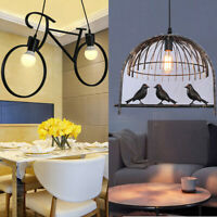 Large Modern Cycle Bird Light Shade & Diffuser Ceiling Pendant Vintage Lamp UK