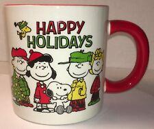 Peanuts Charlie Brown Snoopy Christmas HAPPY HOLIDAYS MUG PENCIL HOLDER FLAWED