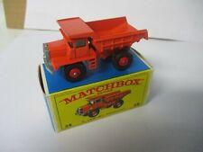 Matchbox Lesney Regular Wheels #28 Mack Dump Truck- red wheels, boxed