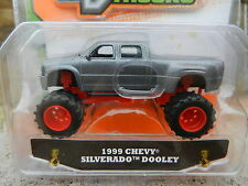1:64 JADA TOYS *JUST TRUCKS 13* Grey 1999 Chevy Silverado Dooley Dually *NIP*