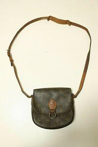 Authentic Louis Vuitton Mini Saint Cloud Monogram Shoulder bag brown #7461