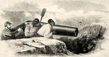 Slave Civil War Slaves Under Fire Forced to Load Confederate Cannons