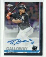 2019 Topps Chrome Isaac Galloway AUTO RC, Marlins Rookie!