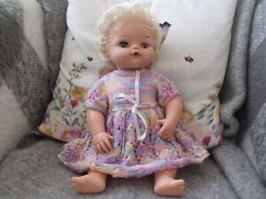 VINTAGE PALITOY 16 INCH FULLY JOINTED VINYL TINY TEARS BABY DOLL LOVELY FACE