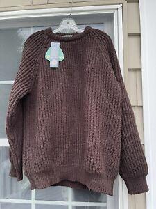 Doogan Donegal Ireland Irish Fisherman Sweater Wool Cable Knit Men's XL