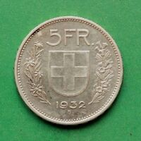 1932 Switzerland Silver 5 Franc Five Franc SNo42459