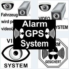 Aufkleber Sticker Fenster Fahrzeug Auto Alarm Einbruch Diebstahl Video überwacht