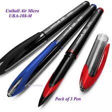 UNI-BALL ARIA MICRO 0.5mm BELLE A SFERA UBA-188-M - Nero Blu Rosso-Confezione da 3