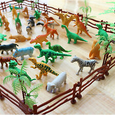 68pcs Educational Farm Wild Animal Dinosaur Reptile Bird Tree Model Kids Toy Set