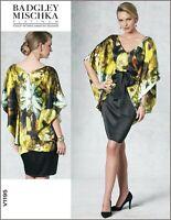 V1195 Sewing Pattern Designer Badgley Mischka EASY Dress  Pullover Top OOP
