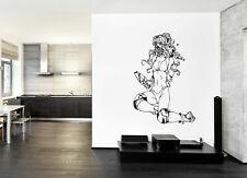ik228 Wall Decal Sticker Decor girl bikini anime maid interior bed