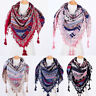 Hot New Fashion Bohemian Woman Square Scarves Tassel Printed Women Wraps Scarf]