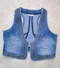 Damen Weste demin blau v. okay,Gr.42/44 mit 2 Taschen Jeansweste