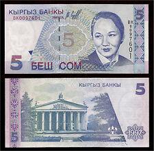 New ListingWorld Paper Money - Kyrgyzstan 5 Som 1997 P13 @ Crisp Unc